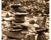 Photograph, Fine Art, Balancing Stones, 8x10 signed print. Titled: A Question of Balance