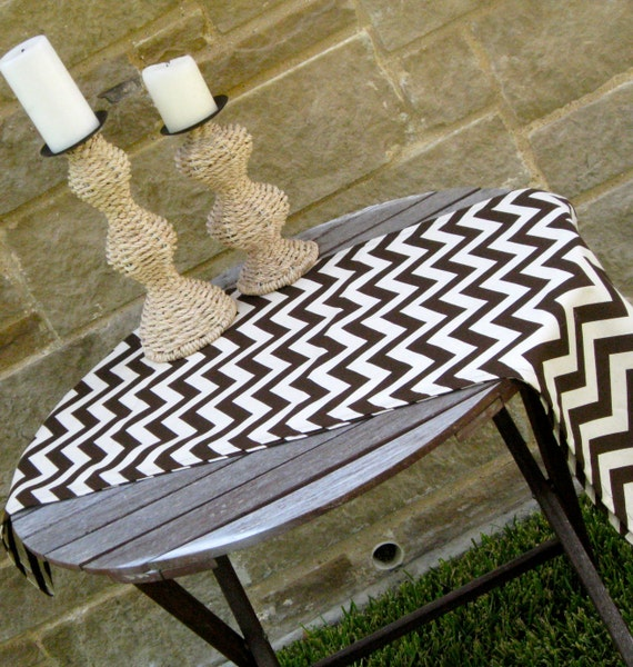 """SALE-Chevron/Zig Zag Brown and Natural Table Runner-112"""" long by 16"""" wide-Ready To Ship"""