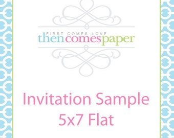 Generic Printed Invitation Sample of your Choice