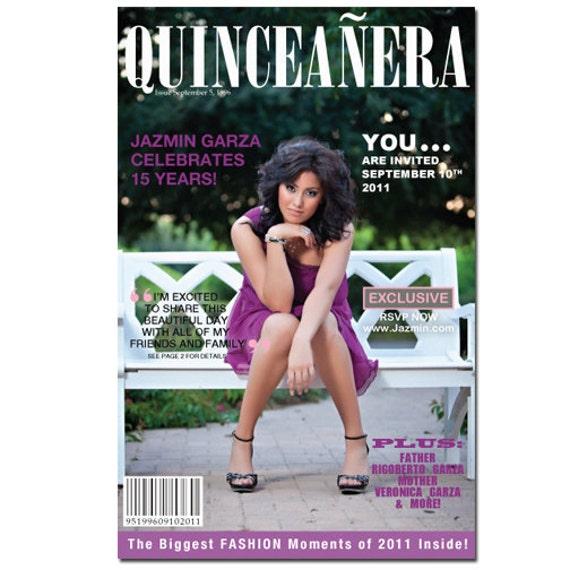 Quinceañera Magazine Invitation, Sweet 16 Invite, Magazine Style Invitation, Teen Birthday Invitation, Sweet Sixteen, Rockstar Theme Party