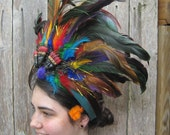 Feathered Headdress - Rainbow Zulu