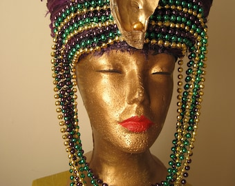 Mardi Gras Showgirl Feather Headdress