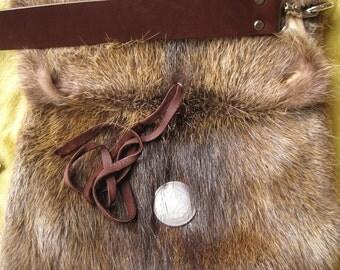 Fur Messenger Bag - Nutria Pelts