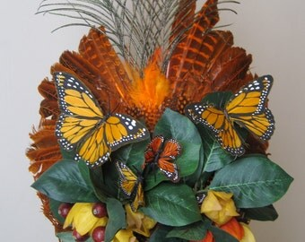 Monarch Migration Feathered Headdress