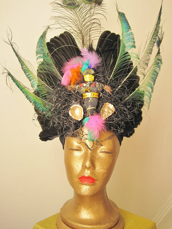 Feathered Extravagant Voodoo Headdress