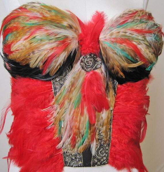 Red Feather Wonder Bustier