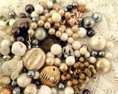 Vintage Jewelry Destash - Buttons, Beads, Brooches- Rustic Wedding Approved