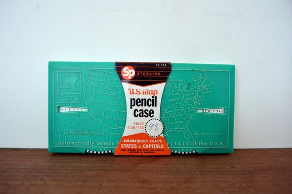 Sterling Co Pencil Case - States and Capitals- Back to School