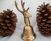 Handsome Collectible Brass Deer Head Bell