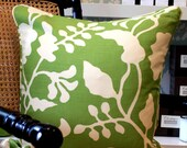 Quadrille - Alan Campbell - Potalla Pillow Covers in Green on Tint - Fabric on Both Sides
