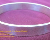 Heavy sterling silver bangle