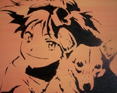 Cowboy Bebop Painting- Ed and Ein