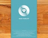 "High Fidelity alternative film poster - 12"" x 18"""