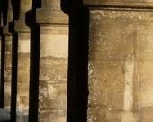Paris Photography, Paris photo print, Architecture photo, minimalist tan, neutral French fine art, abstract art, stone pillars, Paris France