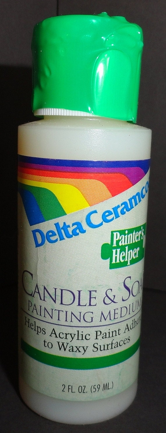 Delta ceramcoat candle soap painting medium for Can you paint candles with acrylic paint