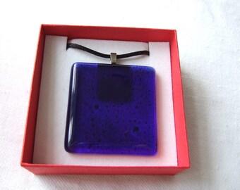 Glass Pendant Midnight Blue