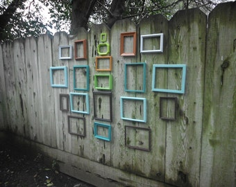 Wall Gallery Frame Set Rustic Shabby Chic Distressed Collection Custom Upcycled Vintage Frames You Pick the Color