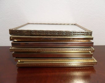 Vintage Gold Metal Frame Collection Set Instant Gallery Ten 8 x 10 Shabby Chic Wedding Table Number Decoration Paris Chic French Home Decor