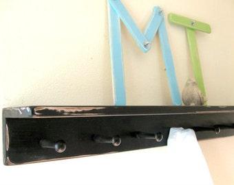 black shelf, distressed, LaRGE PeG SHeLF by Wreckd on Etsy, PICK COLOR, black shelf