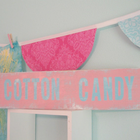 Cotton Candy Sign: Pink Girls Room Decor SiGN... Cotton Candy By Wreckd On Etsy