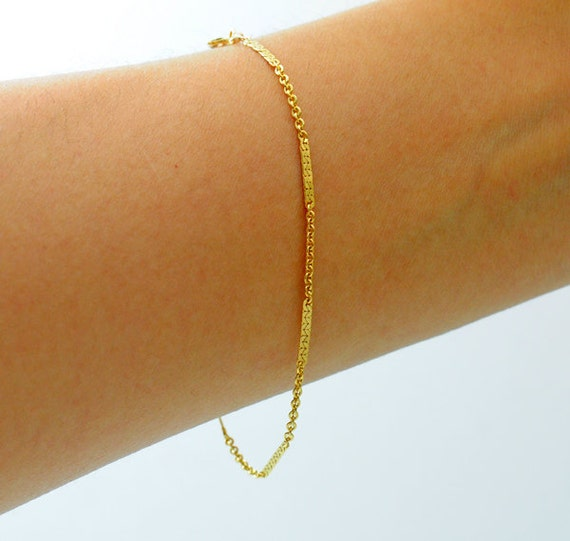 Thin Gold Chain Bracelet: Gold-filled. Delicate Gold Bracelet Thin And Feminine
