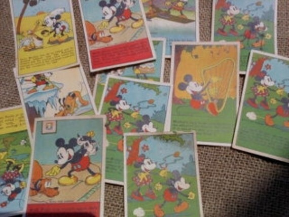 Vintage 1930 Mickey Mouse Recipe Scrap Book for Children