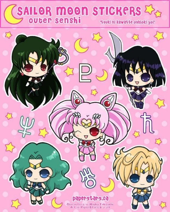 SALE Sailor Moon Stickers (Outer Scouts) - LAST ONE
