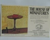 Queen Anne Tilt Top Table Kit By The House Of Miniatures