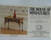 """Queen Anne Table Kit From """"The House Of Miniatures"""""""
