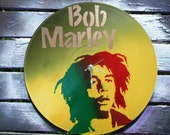 Bob Marley Upcycled Record Wall Clock