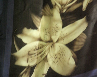 Anne Klein Scarf with Lilies. FREE Shipping