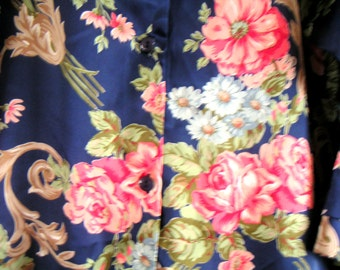 Vintage Natori Floral Sleepwear,Pajama,Floral,Botanical,Japanese Tea Garden
