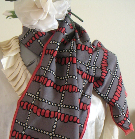 Vintage Scarf by Givenchy. Fall Trend. Fall Fashion.Fall 2012