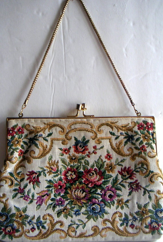 Vintage Tapestry Purse by Wolborg, Made in Hong Kong