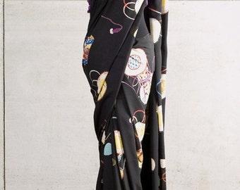 Japanese Drummer Doll Silk Sari