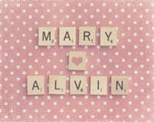 Scrabble Print, Scrabble Photography, Anniversary Gift, Wedding Gift, Bridal Shower Gift, Mother's Day Gift, Gift For Her, Holiday Gift