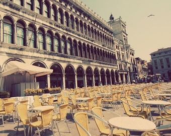 Florence Photo, Florence Print, St Mark's Square, Gift For Traveller, Home Art Decor, Yellow Room Art, Yellow Room Decor, Italy Photography