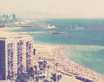 Barcelona Beach, Beach Photography, Beach House Art, Beach House Decor, Barcelona Spain, Barcelona Photo, Barcelona Art, Spain Photo