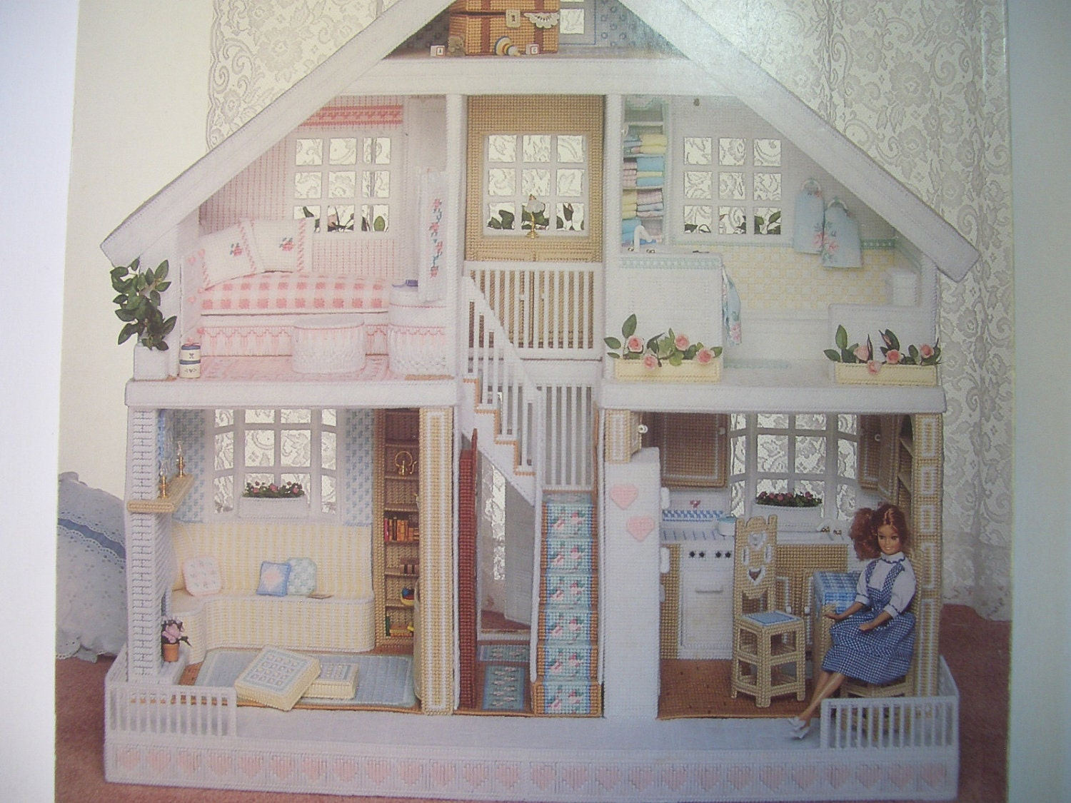 Fashion doll house in plastic canvas pattern book by annen for House of patterns