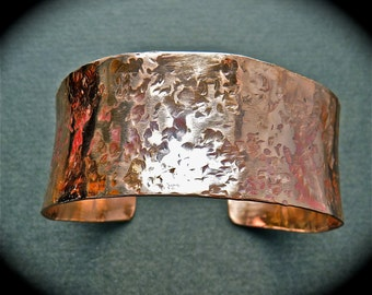 Handmade copper cuff