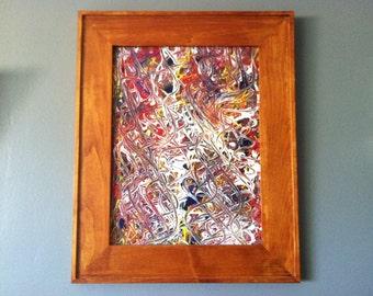 Acrylic on Framed Glass