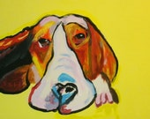 My Pooch got stoned 16x20 painting on canvas