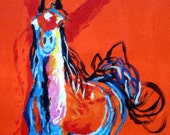 A hot horse for you 12X16 on canvas