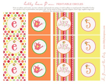 Garden Party Collection: Printable Party Circles