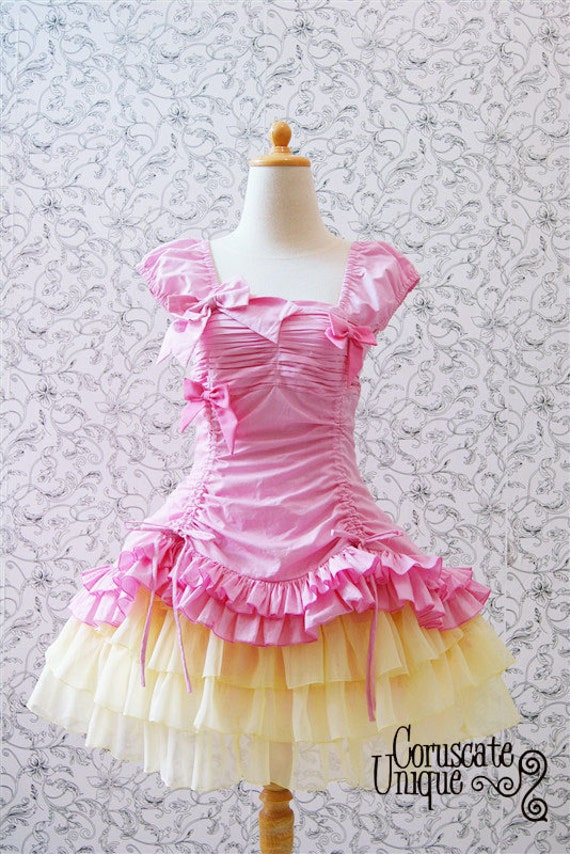 Pretty Classic Ruffles Victorian Adjustable Dress on Two Colour