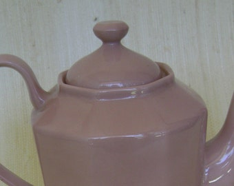 Fitz and Floyd 1978 Total Color Dusty Rose Coffee Pot
