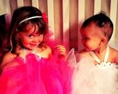 FLOWER GIRL Tutu Dress and Headband Set 3t-7