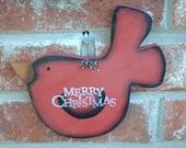Christmas Decor Merry Christmas Bird Ornament