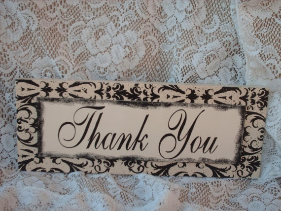Wedding Sign Shabby Chic Thank You Sign Wedding Photo Prop