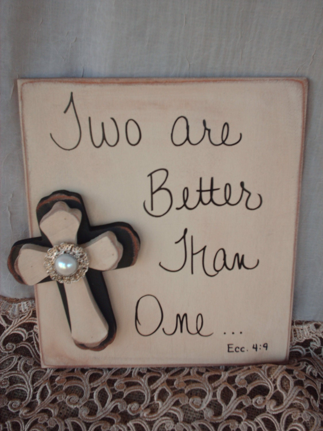 Rustic bible verse wedding sign and decor for I sign decoration
